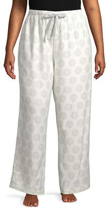 SLEEP CHIC Sleep Chic Mix And Match Womens-Plus Flannel Pajama Pants