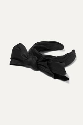Ruslan Baginskiy Bow-embellished Taffeta Headband - Black