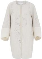 Amanda Wakeley Palmetto Cream Jacquard Coat