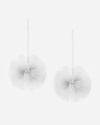 Express Tuleste Monochomatic Tulle Pom Pom Earrings