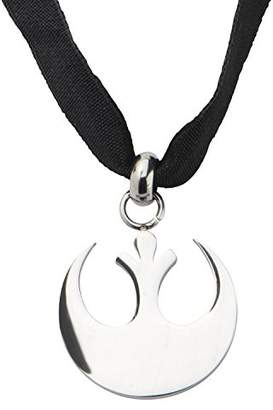 Star Wars Jewelry Women's Stainless Steel Small Cut Out Rebel Symbol Velvet Choker Necklace
