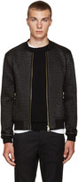 Dolce & Gabbana Black Nylon Quilted Bomber Jacket