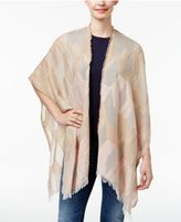 Echo Cotton Geometric Poncho