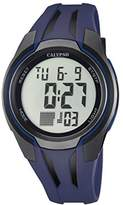 Calypso Unisex Digital Watch with LCD Dial Digital Display and Blue Plastic Strap K5703/4