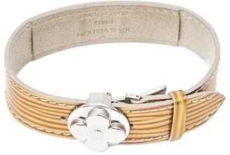 Louis Vuitton Gold Monogram Vernis Leather Good Luck Bracelet
