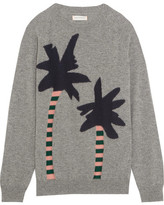 Chinti and Parker Intarsia Cashmere Sweater - Gray