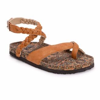 Muk Luks Womens Estelle Sandals Tan 10