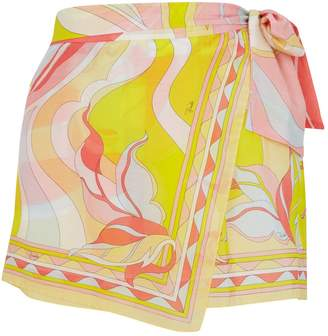Pucci Wrap-Style Silk Shorts