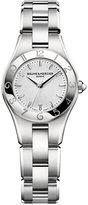 Baume & Mercier Women's Swiss Linea Stainless Steel Bracelet Watch with Interchangeable Black Satin Strap 27mm M0A10009