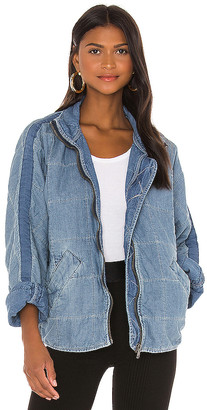 Free People Dolman Quilted Denim Jacket. - size M (also