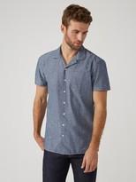 Frank + Oak Printed Camp Collar Cotton-Chambray Shirt