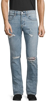 Hudson Slim Straight Distressed Jeans