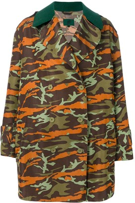 Jean Paul Gaultier Pre-Owned double-breasted camouflage coat
