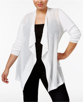 JM Collection Plus Size Sheer Duster Cardigan, Only at Macy's