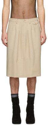 Random Identities Beige Officer Skirt Shorts