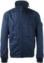 Stone Island high neck jacket - men - Cotton/Polyamide/Polyurethane Resin - S
