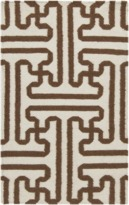 The Well Appointed House Surya Archive Rug in Dark Brown and Cream-Available in a Variety of Sizes