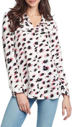 Nic+Zoe Spotted Long-Sleeve Shirt
