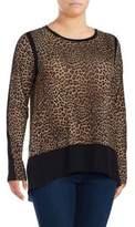 MICHAEL Michael Kors Plus Persian Leopard Top