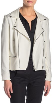 Catherine Malandrino Textured Knit Moto Jacket (Petite)