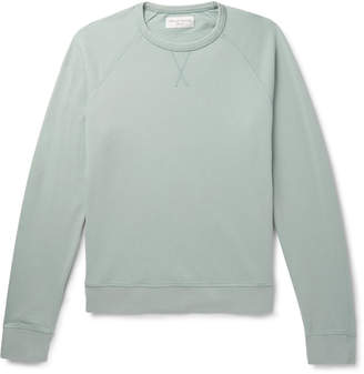 Officine Generale Loopback Cotton-Terry Sweatshirt - Men - Green