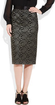 Clements Ribeiro Candy metallic lace pencil skirt