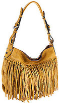 Oryany As Is Italian Grain Leather Fringe Hobo - Josie