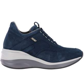 Paciotti 4Us Sneakers Candy Sneakers With Suede Wedge