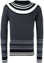 Neil Barrett stripe detail jumper - men - Wool - S