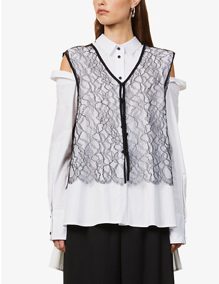 Rito River sleeveless floral lace top