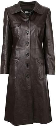 GOEN.J Geiza vegan leather coat