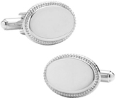 Ravi Ratan Men's Rope Border Oval Engravable Cufflinks
