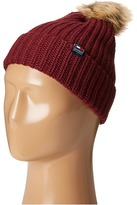 Tommy Hilfiger Ribbed Cuff Hat with Faux Fur Pom