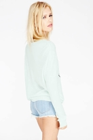 Wildfox Couture Self Serve Crewneck Sweater in Ice Cold