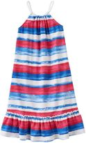 Chaps Toddler Girl Striped Ruffle Dress