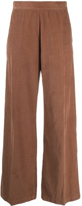 Semi-Couture High-Waisted Corduroy Trousers