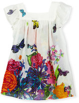 Milly Minis Floral Cotton & Silk Swim Coverup, Multicolor, Size 8-14