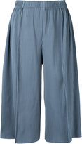 Issey Miyake A-POC Pleats 3 cropped wide pants - women - Polyester - One Size
