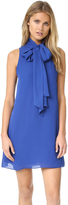 Alice + Olivia Cassidy Tie Neck Flare Dress