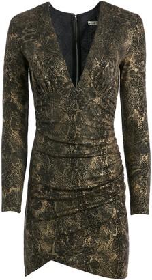 Alice + Olivia Diaz Snake Skin Mini Dress