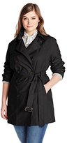 Jones New York Women's Plus-Size Double-Breasted Trench Coat