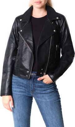 Blank NYC Good Vibes Faux Leather Moto Jacket