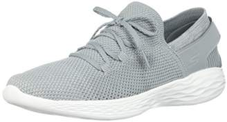 Skechers Women's You-Spirit Slip On Trainers, Grey (Grey/White Gyw), 4.5 (37.5 EU)