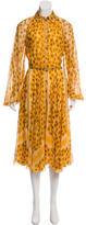 Hermes Printed Midi Dress