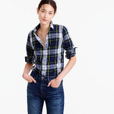J.Crew Perfect shirt in navy Stewart plaid