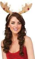 Rubie's Costume Co Light Brown Lightup Christmas Antler Headband