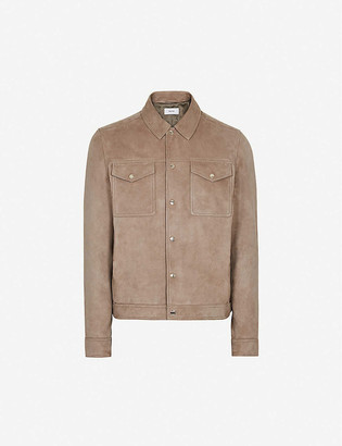 Reiss Stetson tipped collar knitted polo shirt