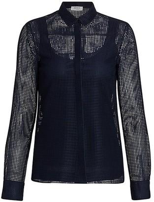 Akris Punto Mesh Button-Down Shirt