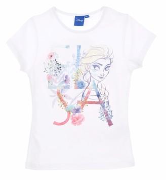 Disney Frozen Girls Short Sleeves T Shirt White