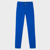 Paul Smith Women's Blue Brushed Denim High-Waisted Skinny Jeans